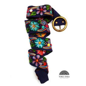 Cinturones Bordado A Mano Con Diseños De Flores