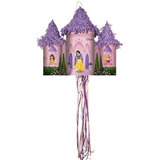 Disney Princess Fairytale Castle Pull String Pinata X01
