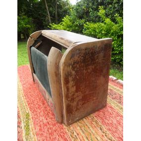 Antigua Caja De Radio Valvular Repuesto Restauración