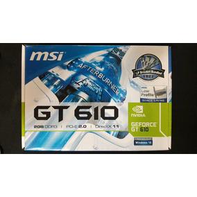 Tarjeta De Video Geforce Gt 610 2gb Ddr3 Nvidia Pci-e 2.0