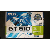 Tarjeta De Video Geforce Gt 610 2gb Ddr3 Nvidia Pci-e 2.0