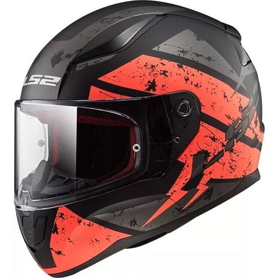 Casco Moto Ls2 Ff 353 Rapid Deadbolt Matt Orange Devotobikes