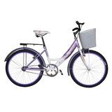 Bicicleta Equipada Con Canasta Y Parrilla Bravia Rodada 24