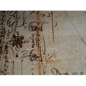 Antigo Documento Manuscrito Ano De 1518 * 3 Folhas *