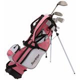 Set Palos Golf 5 Pieza Edad 5-8 Tour Edge Diestro Bolsa Rosa