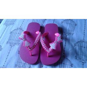 Chinelo Havaianas Bordado Infantil Pink 29/30