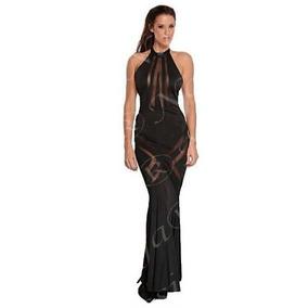 Natassja Na-1329 Vestido Largo Con Transparencias