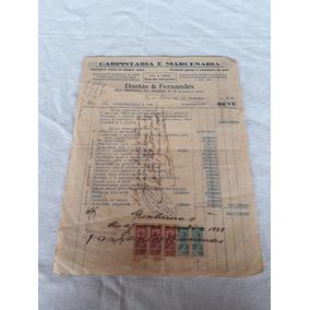 Documento Nota Fiscal Selo Dantas E Fernandes 1929