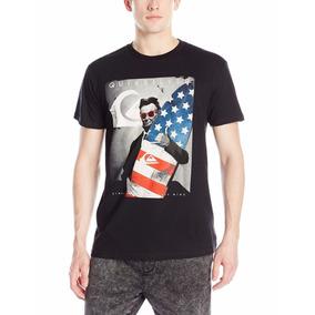 Camiseta Quicksilver Preta Masculina 2016 Original Importada