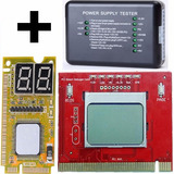 Kit 3 Tester Fuente + Mother Pci Placa Diagnostico Post Card