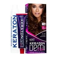 Kit 2 Coloração Keraton Demi Color Louro Med Marrom In 7.77