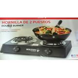 Hornillo Electrico 2 Puestos Con Regulador De Temperatura/