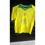 Camiseta De Coleccion Brasil Ronaldo El Fenomeno Poco Uso