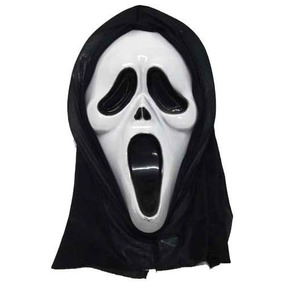 Máscara Pânico Plástico Halloween Fantasia Cosplay Anime