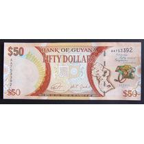 Guayana Billete 50 Dolares 2016 Sin Circular