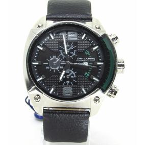 Relógio Masculino Atlantis Original Prata Pulseira Couro Eco