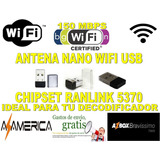 Usb Wifi Adaptador Para Decodificador Azbox Y Azamerica