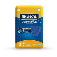 Fralda Bigfral Derma Plus Noturna Tamanho G - 7 Unidades