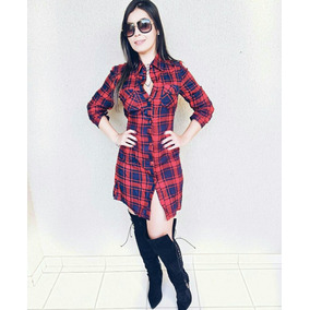 Vestido Chamise Xadrez Country Luxo Moda Instagram Panicat
