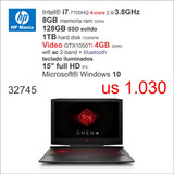 Nb Hp Gamer I7 4-core/8gb/128 Ssd /4gb-vga/15 Full Hd