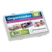 Caixa Organizadora M Plást. Transparente 14 Divisórias Fixas