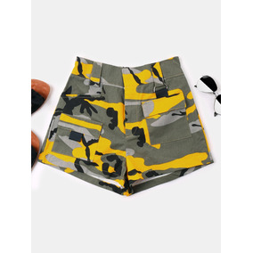 Diseño Creativo Camuflaje Bolsillos Pantalones Cortos Cintu
