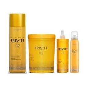 Kit 04 Produtos Trivitt Para Hidratacao - Itallian Hairtech