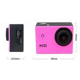 Camara Sportcam Hd 780p Sumergible 12 Acc Rosa