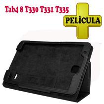Kit Capa Case Samsung Tab4 8 T330 Película Protetora Comum
