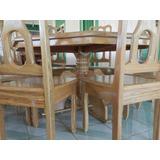 Conjunto Mesa Rústica Madeira Maciça Cerejeira C/ 8 Cadeiras