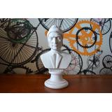 3x Esculturas Bach Busto Dante Omero Po Marmore 24cm Italy
