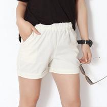 Tsuki Moda Asiatica: Shorts Casuales Cortos Cintura Elastica