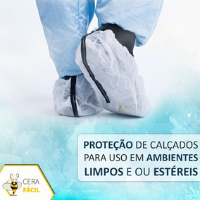 Sapatilha Propé Descartável Tnt Pacote Com 100 Resistente