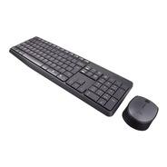 Teclado E Mouse Logitech Mk235 Wireless Usb Sem Fio Cinza