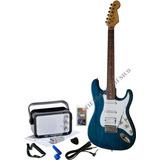 Kit Guitarra Vorson Amplificador Cable Capodastro Picks Rebo