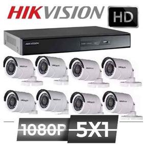 Kit Hikvision Dvr 1080p + 8 Camera 1080p Full Hd 2mp P2p