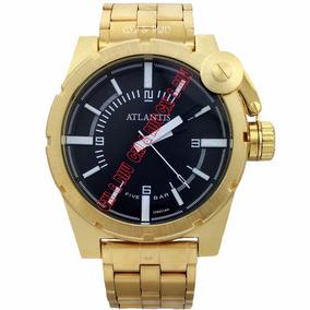 4eb420eafc9 Relógio Atlantis A3283 Fundo Preto - Joias e Relógios no Mercado ...