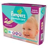 Pañales Pampers Premium Care Xg 12-15kg X36u.