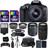 Camara Canon Eos Rebel T6 Con Accesorios