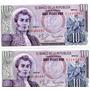 Duo Billetes De 10 Pesos 1980serie Az Lgv
