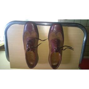 Zapatos De Cuero Y Gamusa