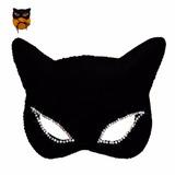 Kit 10 Mascaras Mulher Gato Haloween Festa Fantasia Sensual