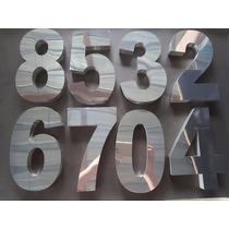 Letras E Números De 20cm Em Aço Inóx Polido! Corte À Laser.