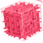 Cubo Laberinto Rompecabezas 3d Rosa J1076