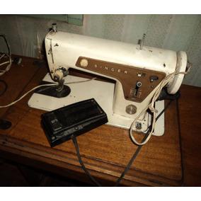 Maquina De Coser Singer Antigua Mueble Pedal Electrico