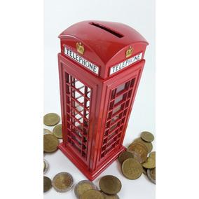 Alcancia Cabina Telefonica Inglesa Metal Regalos Empresarial