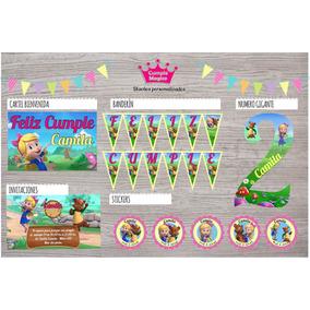 Kit Impreso Goldie Osito Invitacion Sticker Cartel Banderín