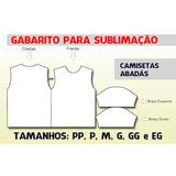 Moldes Para Sublimação De Camisetas Gabarito Em Corel E Pdf