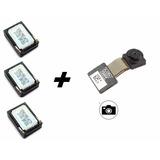 Kit 3 Peças Auto Falante Auricular Moto G2 + Camera Frontal