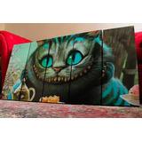 Set Mural De Cuadros Alicia Gato Sonriente Cheshire Cat